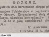 Rozkaz do płockich harcerzy