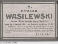 Pogrzeb ochotnika Edwarda Wasilewskiego