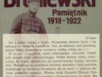Wpis z 13 lipca / źródło: Broniewski W. - Pamiętnik 1918-1922. Warszawa 1984
