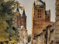 H Jawniszko - Dojście do katedry  / źródło: Helena Jawniszko 1866-1935 malarstwo i rysunek. Płock 1993