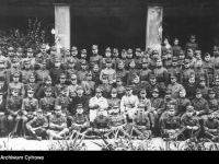 Członkowie Generalnego Inspektoratu Armii Ochotniczej z gen. J. Hallerem 1920 r. / źródło:  NAC