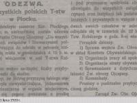 Odezwa do wszystkich towarzystw polskich w Płocku