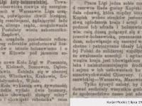 Z działalności Ligi Antybolszewickiej