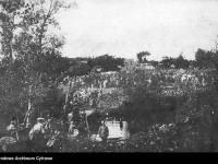 Przeprawa przez Zbrucz 1914 r. / źródło: NAC