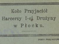 Koło Przyjaciół Harcerzy - karta 1921 r. / źródło: Polona