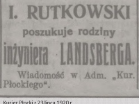 Poszukiwany inżynier Landsberg