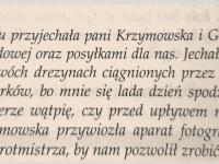 Fragment wspomnień Rościszewskiego Lecha / źródło: Szatkowska L. - Szara legenda. Płock 2010