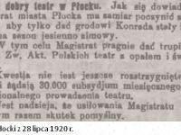 O dobry teatr w  Płocku