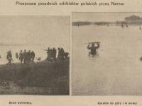 Przeprawa polskich oddziałów przez Narew / źródło: terazostroleka.pl