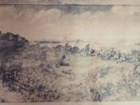 Zaginiony obraz L. Winterowskiego - Obrona Łomży 29 lipca-3 sierpnia 1920 r. / źródło: lomza.pl