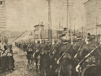 Równe - poznańscy ułani po zdobyciu miasta w kwietniu 1920 r. / źródło: terazostroleka.pl