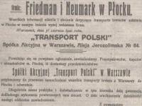 Firma Friedman i Neumark w Płocku