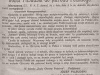 Józef Piłsudski do Narodu Polskiego