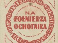Cegiełka Na żołnierza ochotnika 1920 r. / źródło: Polona