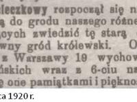 Ruch wycieczkowy w Płocku