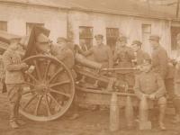 Artyleria wokolicach Trzepowa, sierpień 1920 r., fot.zezbiorów J. Szymańskiego