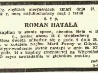 Dziennik Bałtycki 28.11.1969, fot.zezbiorów rodzinnych Pawła Hatały