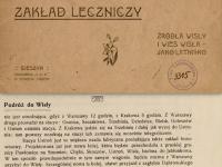 Źródła Wisły zakład leczniczy źródła Wisły iwieś Wisła jako letnisko, 1909 r.  / źródło SBC