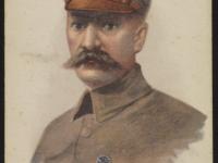 Portret Józefa Piłsudskiego namalowany przezBogdana Hoffa, 1916 / źródło Polona