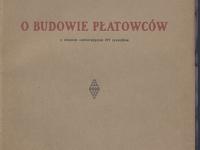 Zdzisław Zych-Płodowski, Obudowie płatowców, Warszawa 1925 r. źródło Polona